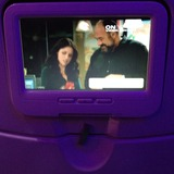 Entertainment on Virgin America, New York John F Kennedy Airport (JFK) to San Francisco Airport (SFO)