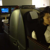 Seat on United, Business or BusinessFirst (front cabin on 2-cabin intl flights;business cabin when a 3-cabin plane), San Francisco Airport (SFO) to Tokyo Narita Airport (NRT)